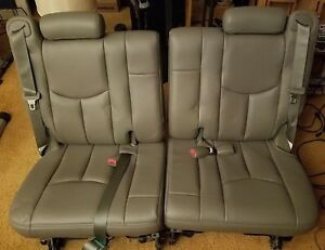 2003 2006 Gm Products Escalade Tahoe Yukon Oem 3rd Row Leather Seats Gray