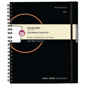 At a glance 70595000 Plan Write Remember Weekly monthly Planner 8 1 2 X 11