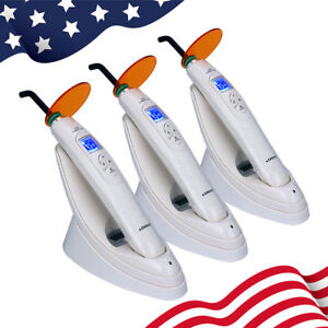 Us 3x Dental Cordless Led Curing Light Lamp Yc886 2 With Light Test Meter 1800mw