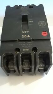 General Electric Tey320 3 Pole 20 Amp Type Tey 480 277v Circuit Breaker