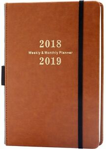 Weekly Monthly Academic 2018 2019 Planner W Calendar Stickers With Pen Holder