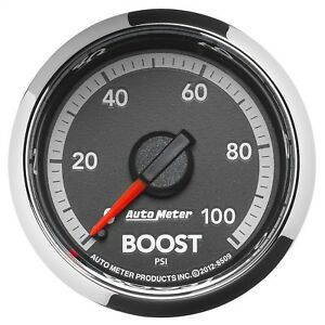 Autometer 8509 Factory Match Boost Gauge White Led Fits Gen 4 Dodge Ram