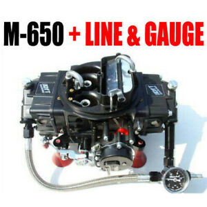 Quick Fuel M 650 Mech Gas Electric Choke Marine With J tubes With Line Kit M 650