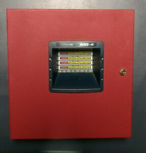 Fire lite Ms 4 Fire Alarm Panel used Guaranteed Working 100