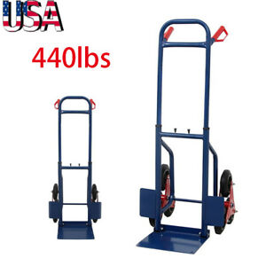 440lb Stair Climbing Moving Dolly Hand Truck Warehouse Cart 6 Wheels Heavy Duty