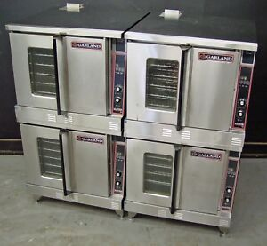 Two Garland Mco gd 10a Master 300 Full Size Double Stack Gas Convection Oven