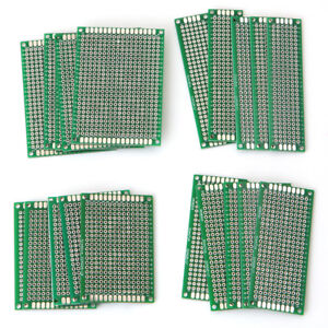 20pcs 4size Double side Protoboard Circuit Universal Diy Prototype Pcb Board