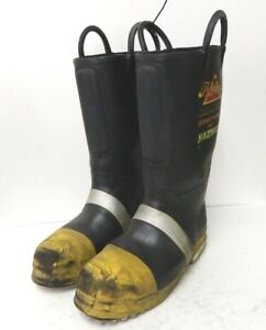 Thorogood Structural Hazmat Steel Toe Firefighter Fire Boots 9 5 Medium 2