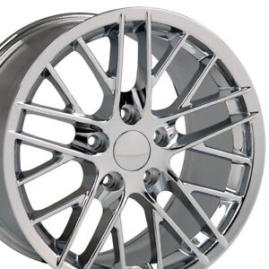 19x10 18x8 5 Wheels Fit 2005 2013 Corvette C6 Zr1 Style Chrome Rims Set Cp