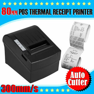 300mm sec 80mm Auto cut Thermal Receipt Printer Usb Ethernet For Pos In Usa Ship