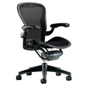 Herman Miller Classic Aeron Chair Size C Large Fully Adjustable Graphite Frame