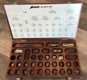 Arrow 60 Key Rekeying Pin Kit Locksmith Tool Wood Box