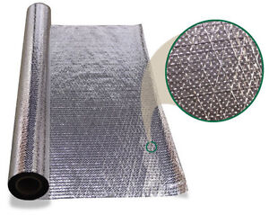 Attic Radiant Barrier Foil Insulation Wide Rafters 51 Wide 1000sf Perforated