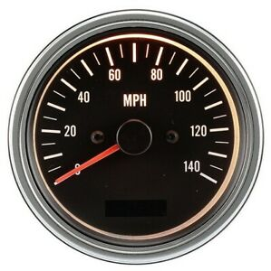 Auto Speedometer 85mm Electrical Automotive Gauge With Odometer Chrome Rim Mph