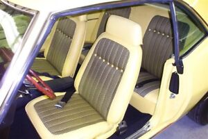 1969 Camaro Deluxe Houndstooth Interior Bucket Seat Covers Yellow