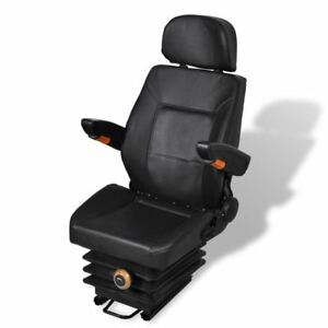 Tractor Seat Spring Suspension Slide Track Compact Mower Seating W Backrest