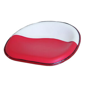 Deluxe Seat Pan Red White Rod Style Fits Ih Farmall