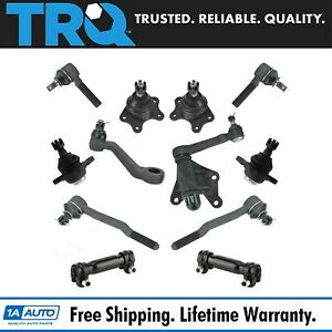 12 Piece Steering Suspension Kit Ball Joints Tie Rods Idler Arm W Bracket New