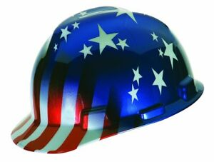 Msa Safety 10052945 Freedom V gard Protective Cap American Stars And Stripes