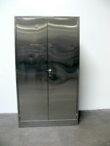 Stainless Steel Lab Storage Cabinet 16 X 47 X 84