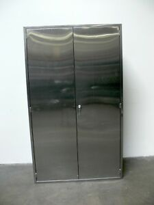 Stainless Steel Lab Storage Cabinet 16 X 47 X 80