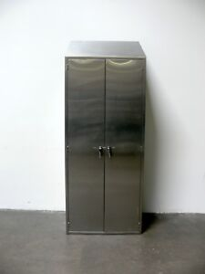Heavy Duty Stainless Steel Lab Storage Cabinet 14 X 35 X 92