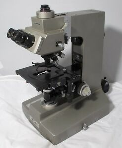 Olympus Vanox Microscope With Plan 4 10 20 40 And Plan Apo 100 Objectives