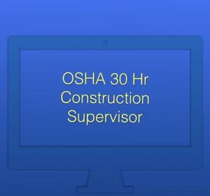 Online Osha 30 Hr Construction Course With Dol Card And Hard Hat Sticker