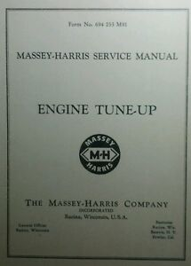 Massey harris Service Manual Engine Tune up 56p 21 22 23 30 33 44 44 6 55 Diesel
