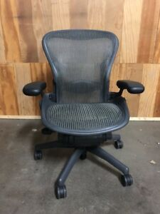 Herman Miller Classic Aeron Chair Size B Medium Fully Adjustable Graphite Frame