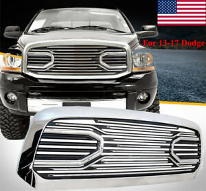 13 17 Dodge Ram Truck 1500 Front Hood Big Horn Chrome Replacement Grille Shell