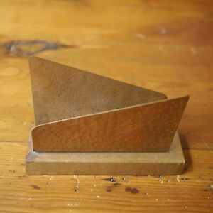 Vtg Mid Century Modern Hammered Copper Secretary Letter Holder Desk Organizer