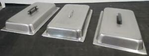 3 Lot Stainless Steel Full Size Steam Table Pan Dome Cover Lid Chafer Lids