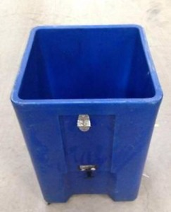 Beverage Ice Down Floor Display Merchandising Bin Cart 21x21x33 Cooler Chest