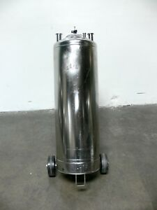 Alloy Products 50l T 316l Stainless Steel Pressure Vessel 115 Psi On Dolley