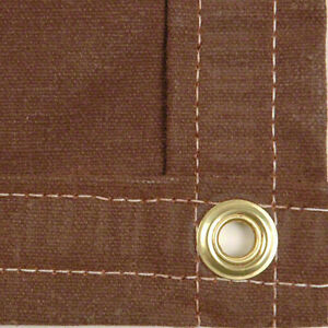 Sigman 8 X 14 Heavy Duty Cotton Canvas Tarp 18 Oz Brown Made In Usa New