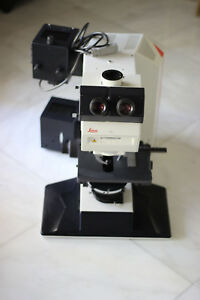 Leica Dmr Hc Research Microscope With Fluorescence Ict dic And Phase Contrast