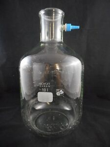 Duran Glass 10l Filtering Flask Heavy Wall With Removable Ppn Hose Connection B
