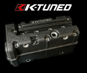 K tuned Valve Cover Wrinkle Black Fits Acura Honda K20 K20a K24a Only