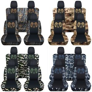 Fits 2007 2008 Dodge Ram Front And Rear Truck Seat Covers 20 Camo Color Choices