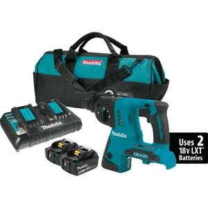 Makita 36v Cordless Concrete Masonry Rotary Hammer Drill W 2 Batteries Charger