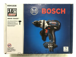 Bosch Brute Tough 18v Brushless Hammer Drill W Side Handle Hdh183b new In Box