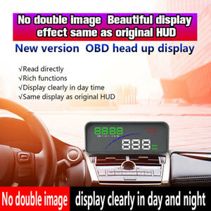 P9 Head Up Car Display Obd2 Obdii Hud Display Smart Digital Meter Plug