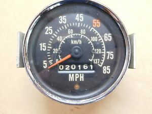 Vintage Stewart Warner 3 5 8 Speedometer Gauge With Mount Hot Rat Rod