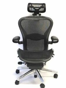 Executive Fully adjustable Size B Lumbar Support With Headrest Aeron Chair