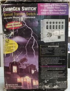 Emergen Switch Manual Transfer Switch Model No 6 5000