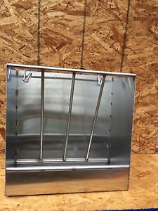 Stainless Steel Combination Hay And Grain Feeder For Sheep goats Mini Horses