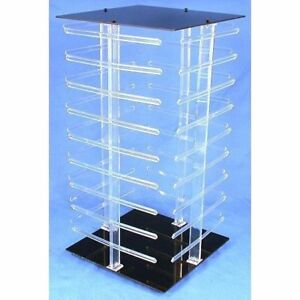 144 Card Rotating Revolving Acrylic Earring Jewelry Display Tower 19 1 2