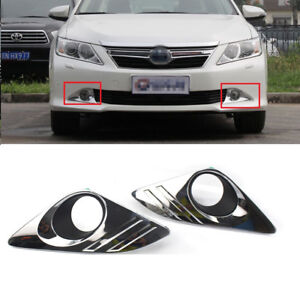 For 2012 2013 2014 Toyota Camry Chrome Cover Bumper Fog Lights Lamps Left right