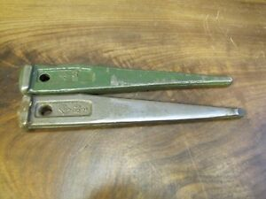Two Cleveland Usa Drill Drift Keys No 3 Machinist Toolmaker Morse Taper Lathe